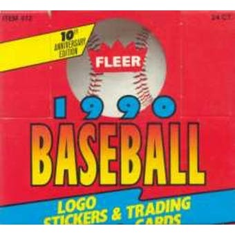 1990 Fleer Baseball Cello Box (Reed Buy)