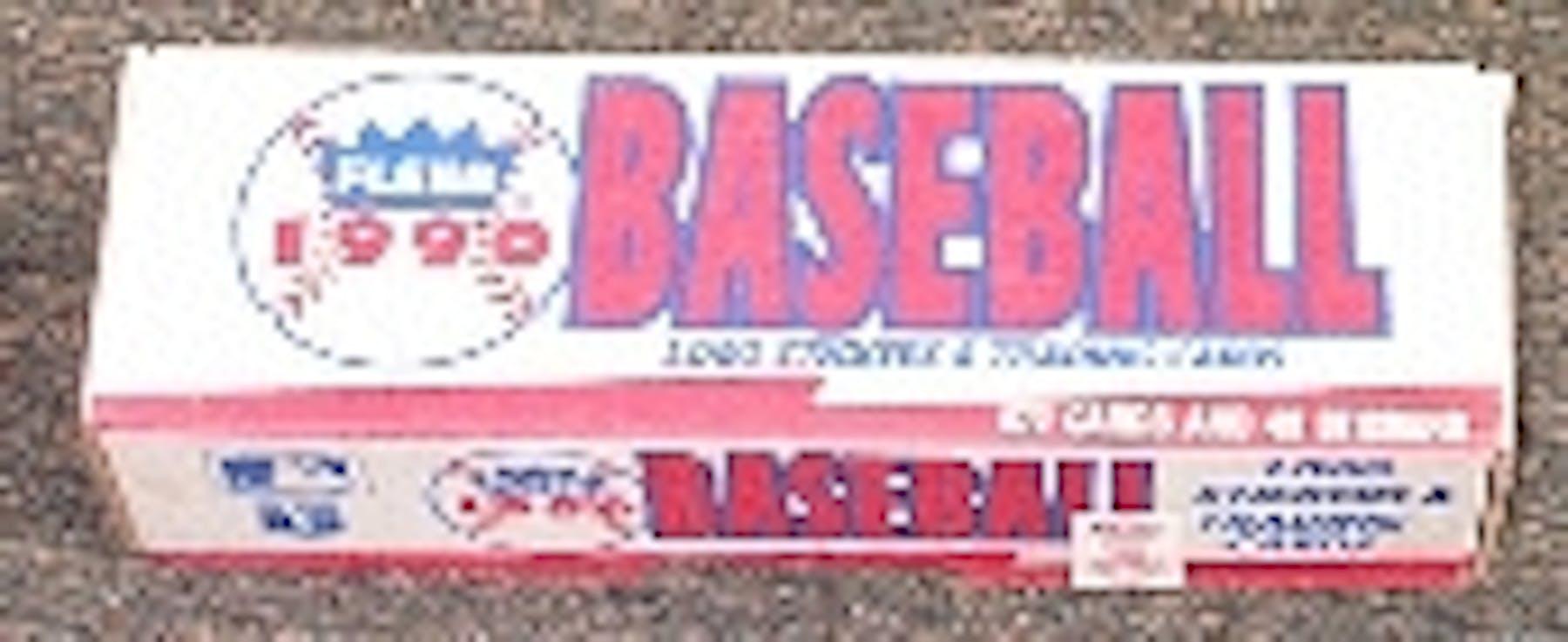 1990 Fleer Baseball Factory Set White Da Card World