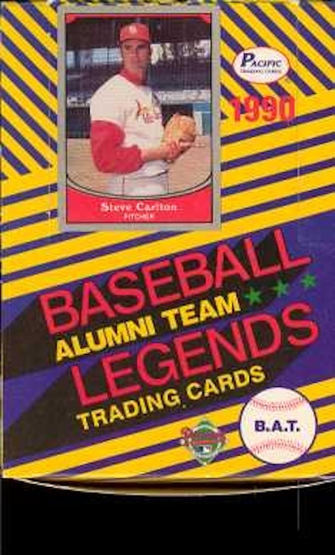 1990 Pacific Alumni Team Legends Baseball Wax Box Da Card World