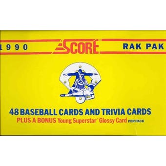 1990 Score Baseball Rack Box