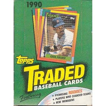 1990 Topps Traded & Rookies Baseball Wax Box