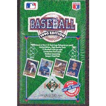 1990 Upper Deck Series 2 Baseball Wax Box (High #)
