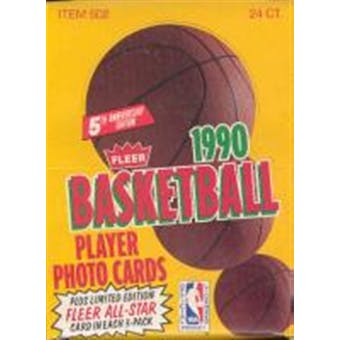1990/91 Fleer Basketball Rack Box