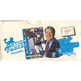 1990 Action Packed All-Madden Football Hobby Box