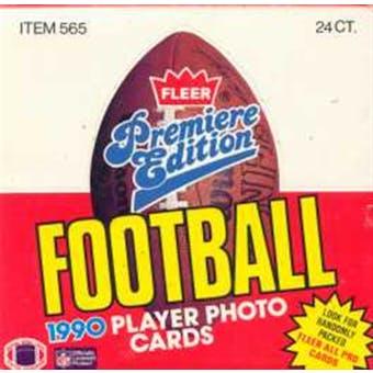1990 Fleer Football Cello Box