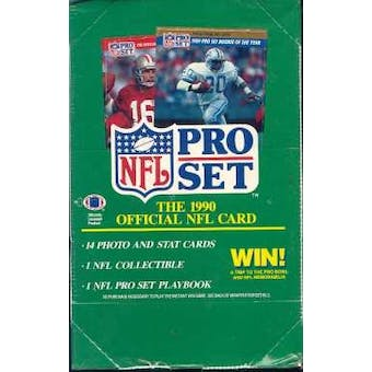 1990 Pro Set Series 1 Football Wax Box (Reed Buy)