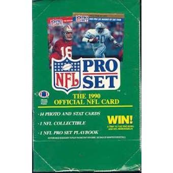 1990 Pro Set Series 1 Football Wax Box