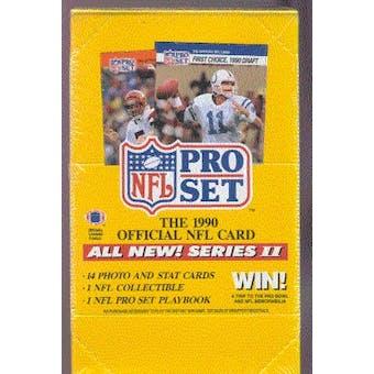 1990 Pro Set Series 2 Football Wax Box