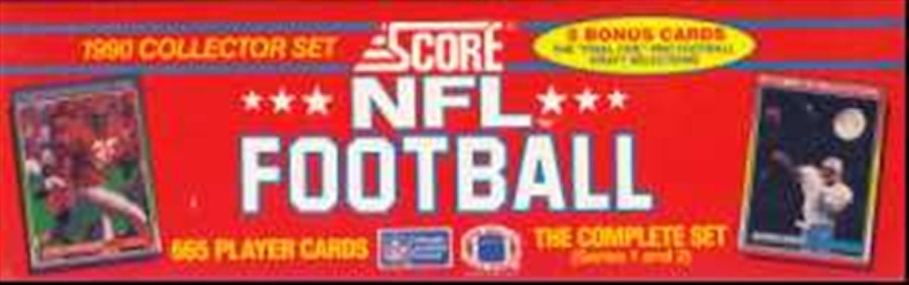 1990 Score Football Factory Set