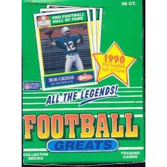 1990 Swell Greats Football Wax Box