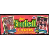 1990 Topps Football Factory Set (Christmas Box) (Reed Buy)