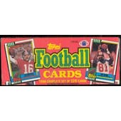 1990 Topps Football Factory Set (Christmas Box)