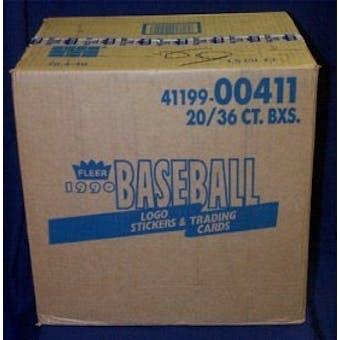 1990 Fleer Baseball Wax 20-Box Case
