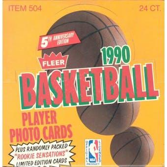 1990/91 Fleer Basketball Jumbo Box