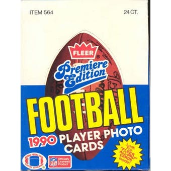 1990 Fleer Football Rack Box