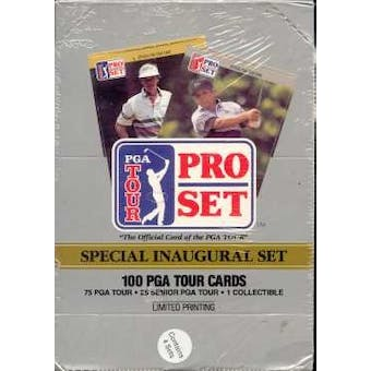 1990 Pro Set Golf Box