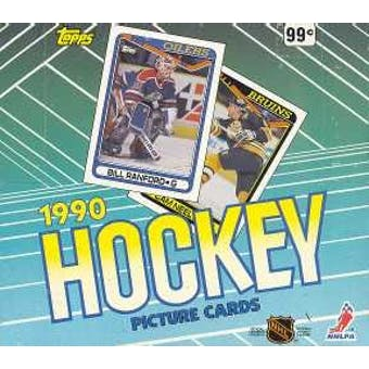 1990/91 Topps Hockey Cello Box