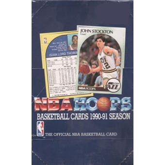 1990/91 Hoops Series 1 Basketball Wax Box (Reed Buy)