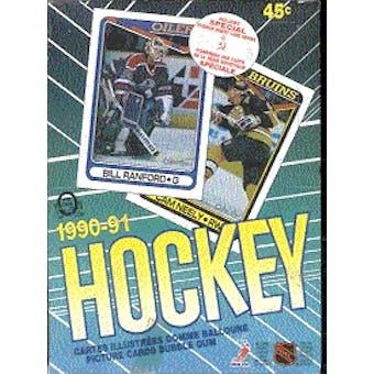 1990/91 O-Pee-Chee Hockey Wax Box