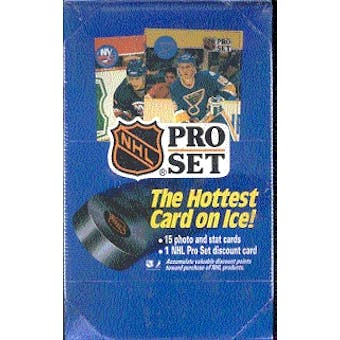 1990/91 Pro Set Series 1 Hockey Wax Box (Reed Buy)