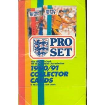 1990/91 Pro Set Soccer Wax Box