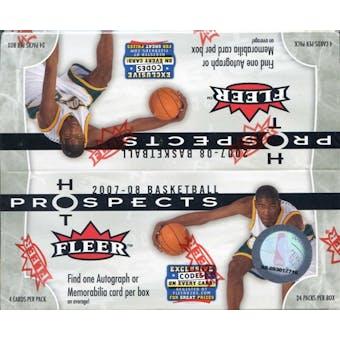 2007/08 Fleer Hot Prospects Basketball Retail 24-Pack Box