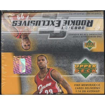 2003/04 Upper Deck Rookie Exclusives Basketball 28-Pack Box