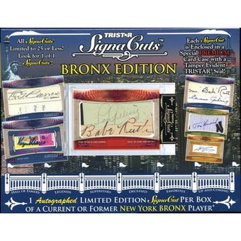 2010 TriStar SignaCuts Bronx Edition Baseball Hobby Box