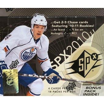 2010/11 Upper Deck SPx Hockey Hobby Box