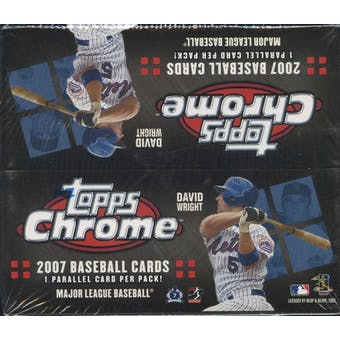 2007 Topps Chrome Baseball 24-Pack Box
