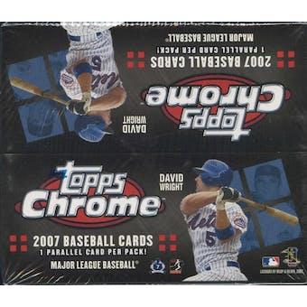 2007 Topps Chrome Baseball 24-Pack Box