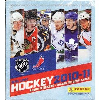 2010/11 Panini Hockey Sticker Box