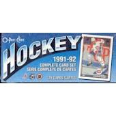 1991/92 O-Pee-Chee Hockey Factory Set