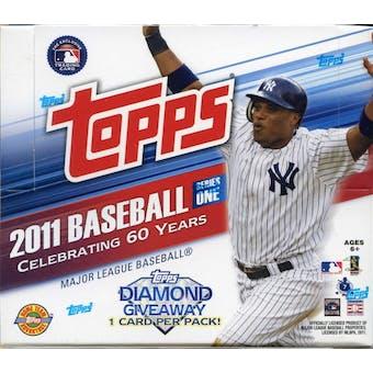2011 Topps Series 1 Baseball Jumbo Box