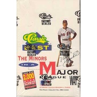 1991 Classic Best Minors Baseball Box