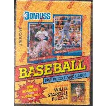1991 Donruss Series 1 Baseball Wax Box (Reed Buy)