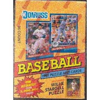 1991 Donruss Series 1 Baseball Wax Box