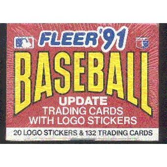 1991 Fleer Update Football Factory 50 Set Case
