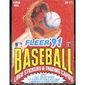1991 Fleer Baseball Wax Box (Reed Buy)