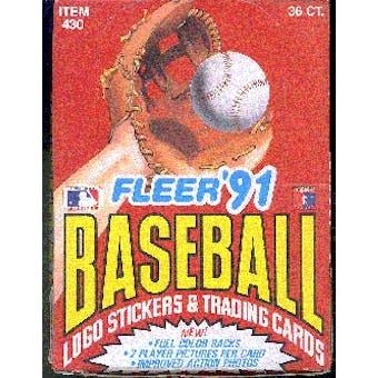 1991 Fleer Baseball Wax Box (Factory Sealed) (Reed Buy)