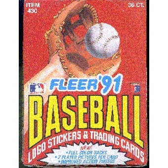 1991 Fleer Baseball Wax Box (Reed Buy)