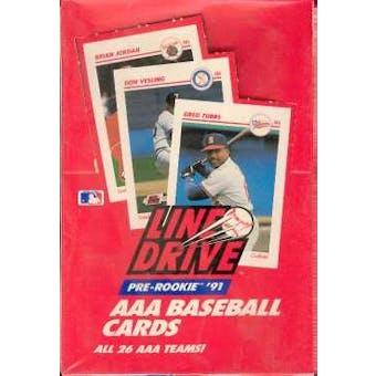 1991 Line Drive Triple A (AAA) Baseball Wax Box