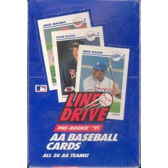 1991 Line Drive Double A (AA) Baseball Wax Box