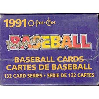 1991 O-Pee-Chee Premier Baseball Factory Set