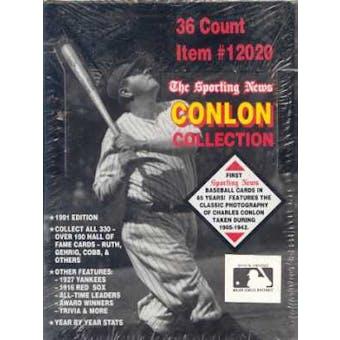 1991 Conlon Collection Baseball Wax Box