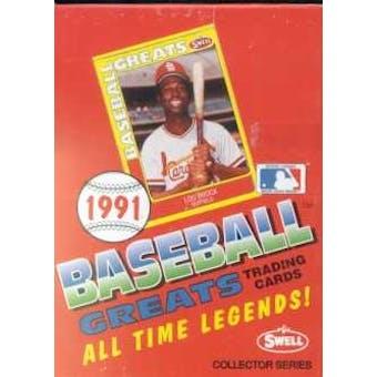 1991 Swell Baseball Greats Baseball Wax Box