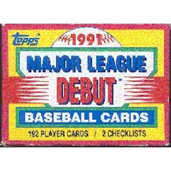 1991 Topps Debut Baseball Factory Set