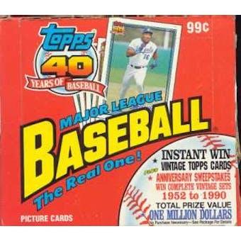 1991 Topps Baseball Cello Box