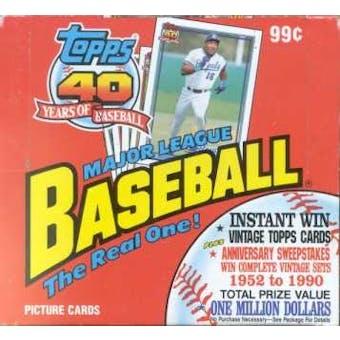 1991 Topps Baseball Rack Box