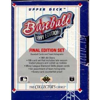 1991 Upper Deck Final Edition Baseball Factory Set